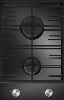 BORA Gas Glass Ceramic cooktop with 2 cooking zones